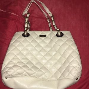 White Quilted Kate Spade Purse